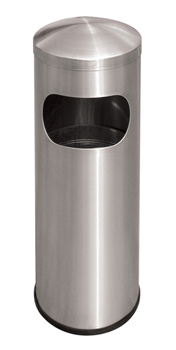 Compact Rounded Top Stainless Steel Waste Receptacle - Model #: DC129SS