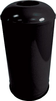 Rounded Top Waste Receptacle (Black) - Model #: EK1531D6