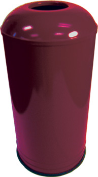 Rounded Top Waste Receptacle (Burgundy) - Model #: EK1531D6