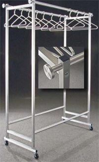 Rolling Garment Rack - Double Bar