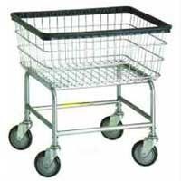 Deluxe Wire Laundry Cart with Casters / Wheels - Laundry Hamper