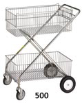 Two Basket Wire Cart
