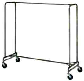 "72"" Wide Heavy Duty Chrome Plated Clothing Rack"
