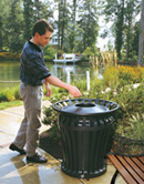 Large Industrial Strength Outdoor Trash Can - Heavy Duty Steel