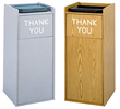 Large Capacity Push Door Waste Receptacle with Tray Top