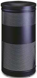 Matching 25 Gallon Perforated Waste Receptacle - Charcoal