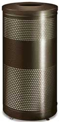 Matching 25 Gallon Waste Receptacle - Bronze