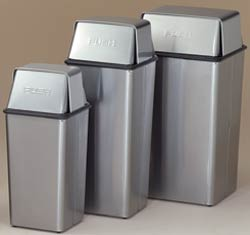 Stainless Steel Push-Top Waste Containers