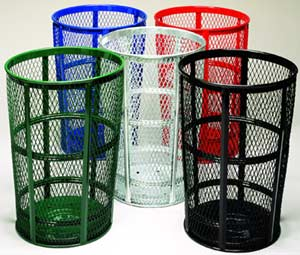 Perforated Large Capacity Trash Cans