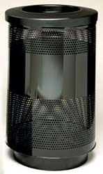 Perforated 55 Gall Waste Receptacle / Trash Container