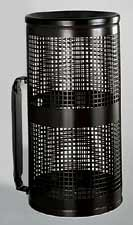 Perforated Metal Trash Receptacle with Wall Mounting Bracket