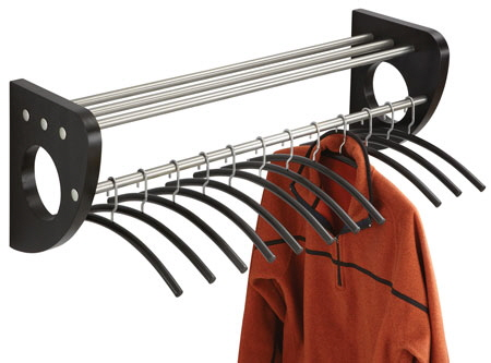 Modern Wood Cat Rack with Included Hangers